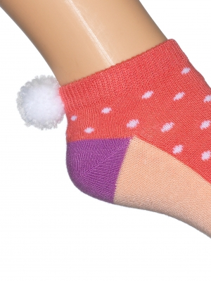 Pom Pom Colour Short Sock