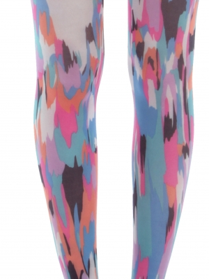 Childrens Powerful Pink Printed Tights