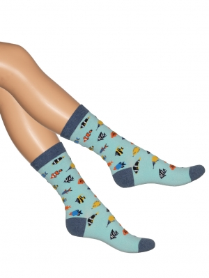 Tropical Fish Sock Women