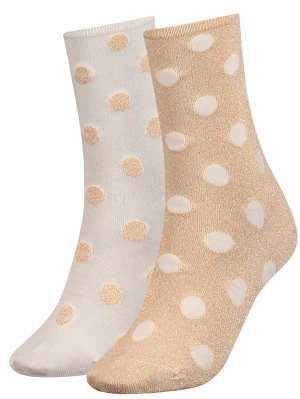 Women Lurex Dot Sock 2-Pack