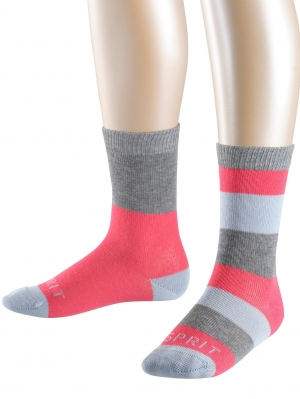 Block Stripe 2-pack Kids Socks