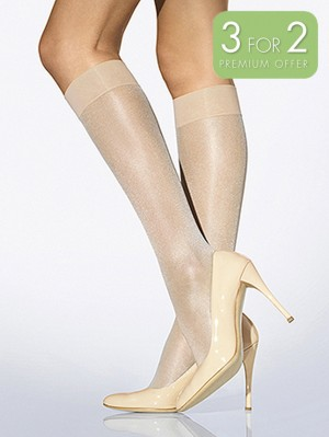 Satin Touch 20 Knee-Highs - 3 for 2