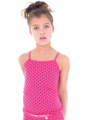 Girls Camisole Raspberry Dot