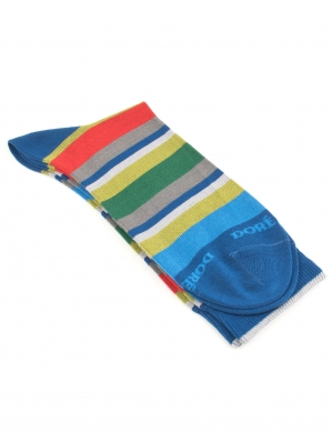 Rayures Multicolor Fil d'Ecosse Sock