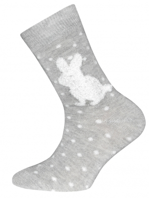 Rabbit Dot Sock