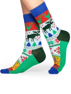 Fair Isle Christmas Sock