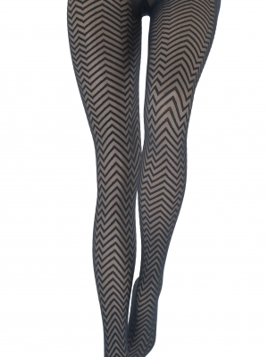 Collant Luxe Chevron 20D