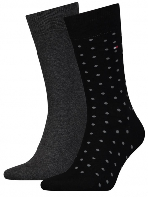 Men Dotted Sock 2-pack