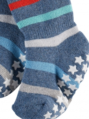 Multi Stripe Baby Stopper Socks