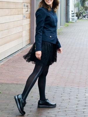 Uniform Stripe Tights
