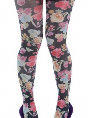 Pretty Flowers Printed Tights