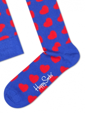 Diagonal Heart Sock