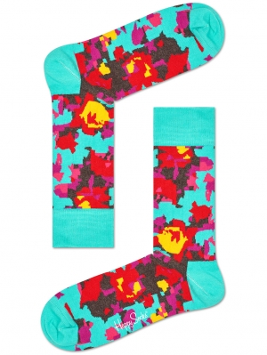 Abstract Flower Sock