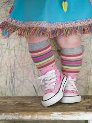 Crayon Stripes Knee-High