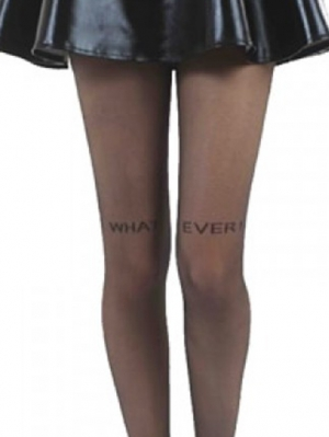 What Ever Small Text Sheer Tights