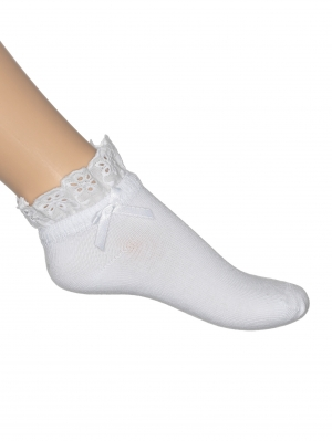 Eyelet Lace Short Sock