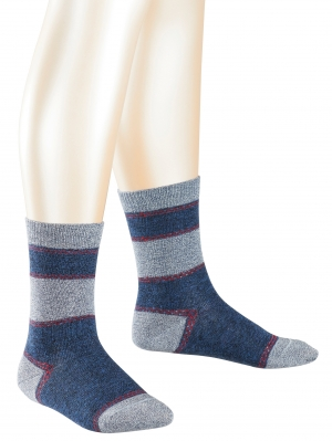 Denim Stripe Sock