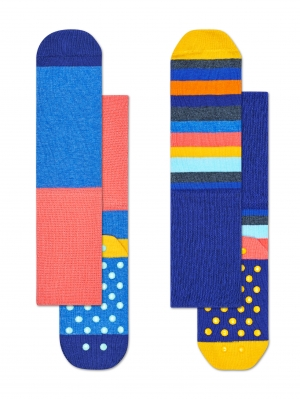 Stripe Anti-Slip Sock 2-Pack